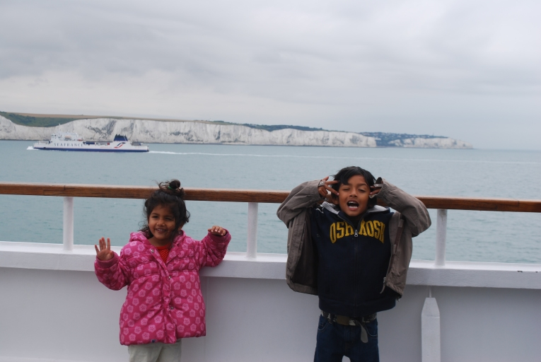 Ferry to France for 2 weeks Europe road trip https://selimfamily.com/2014/06/17/first-europe-road-trip/